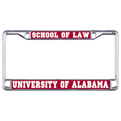 Alabama School Of Law Metal Domed Plate Frame