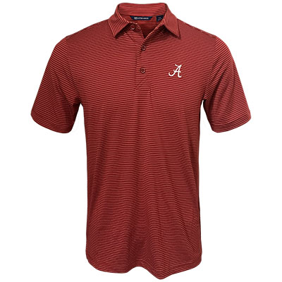Alabama Script A Forge Pencil Stripe Polo