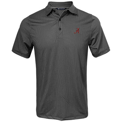 Alabama Script A Pike Mini Pennant Print Polo