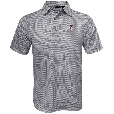Alabama Script A Pike Diamond Print Polo
