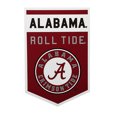 Alabama Roll Tide Banner Decal