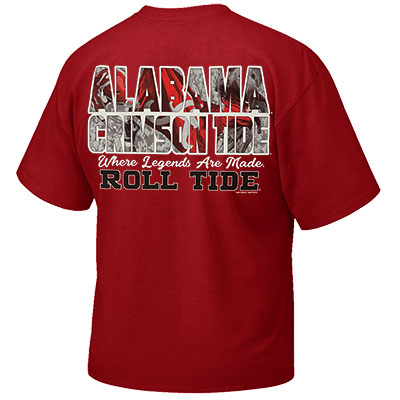 ALABAMA CRIMSON TIDE WHERE LEGENDS ARE MADE ROLL TIDE T-SHIRT