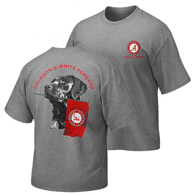 Alabama Crimson And White Forever Retriever T-Shirt