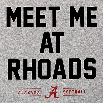 ALABAMA SOFTBALL MEET ME AT RHODES LONG SLEEVE T-SHIRT