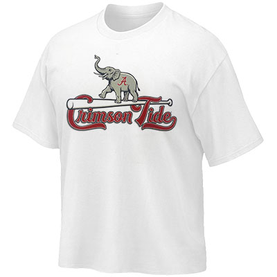 Alabama Crimson Tide Script A Elephant Standing On Bat T-Shirt