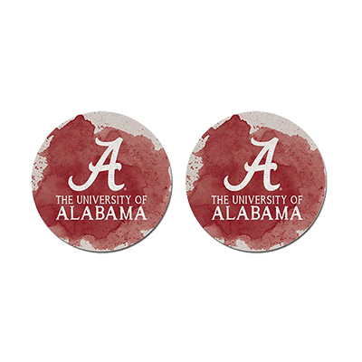 The University Of Alabama Color Spill Car Coaster Set Of 2