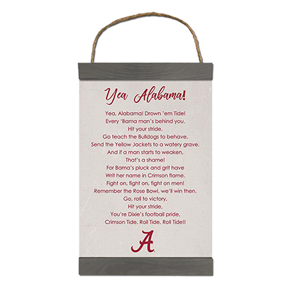 Alabama Fight Song  Canvas Banner