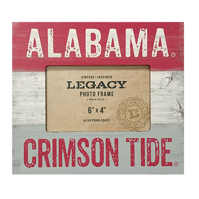 Alabama Crimson Tide  Shiplap Picture Frame