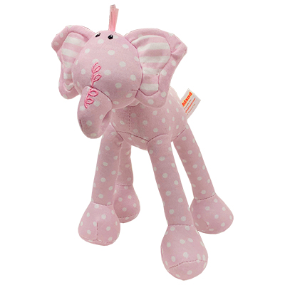 Baby Elephant Polka Dot Plush Elephant