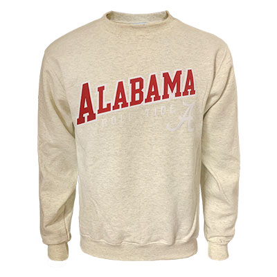 Alabama Roll Tide Script A Eco Powerblend Crew Sweatshirt