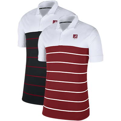 Alabama Striped Polo With Script A