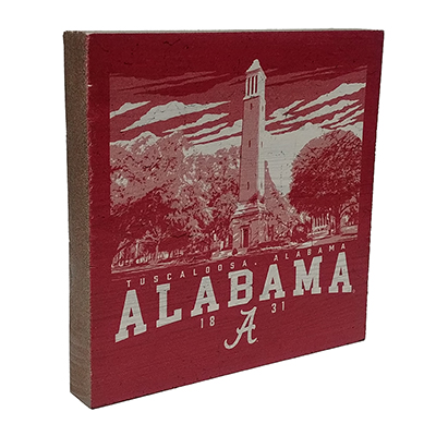 ALABAMA DENNY CHIMES WOOD TABLE TOP SQUARE