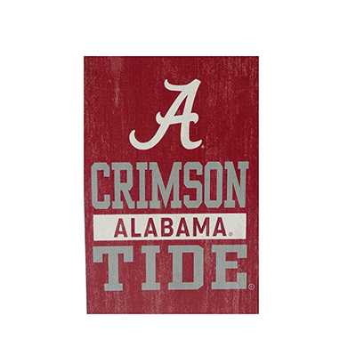 Alabama Crimson Tide Vertical Wood Rectangle Block