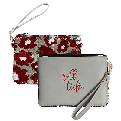 Alabama Claire Roll Tide Sequin Clutch