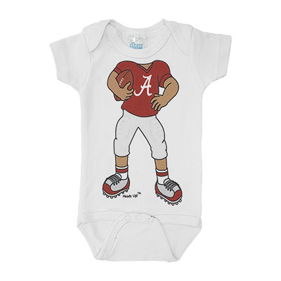 Alabama Heads Up Football Onesie