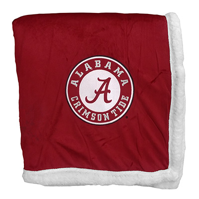 Alabama Script A Sherpa Throw Blanket