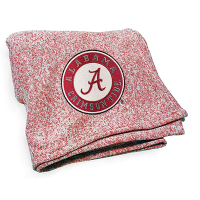 Alabama Circle Logo Jersey Knit Throw Blanket