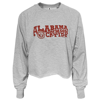 Alabama Crimson Tide Curvy Seal Cropped Sweatshirt