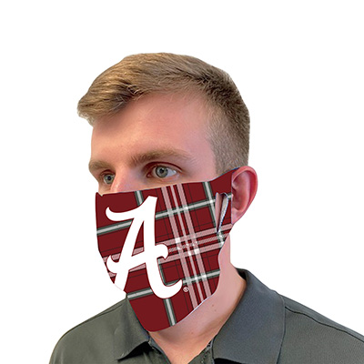 ALABAMA TARTAN FACE MASK