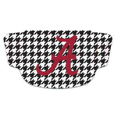 Alabama Houndstooth Face Mask With Script A