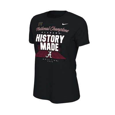 Alabama Roll Tide Script A History Made National Champions Locker Room T-Shirt