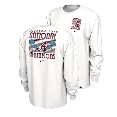 Alabama Script A National Champions Celebration Long Sleeve T-Shirt
