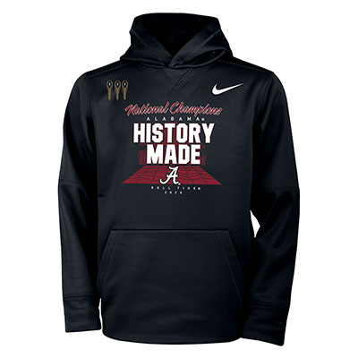 Alabama Roll Tide Script A History Made National Champions Locker Room Hoodie - Youth