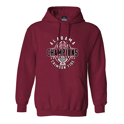 Alabama Crimson Tide 2020 Football National Champions Comfort Fleece Hoodie