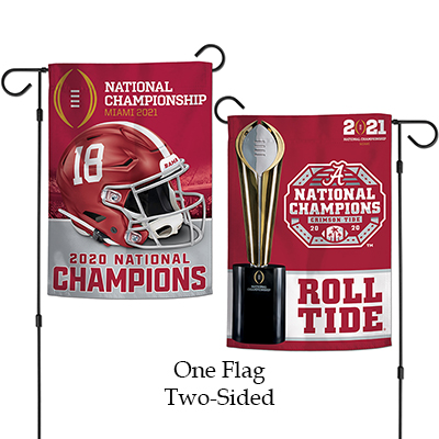 Alabama 2020  National Champions Two-Sided Garden Flag