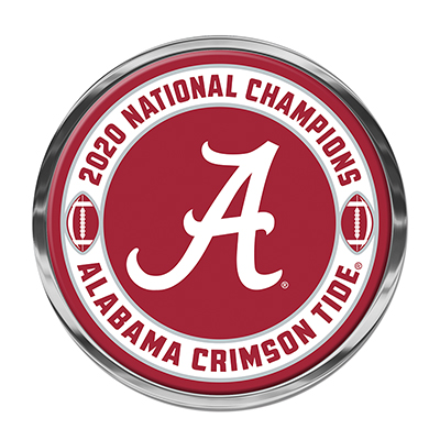 Alabama 2020 National Champions Auto Emblem