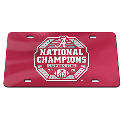 Alabama 2020 National Champions Logo Laser License Plate