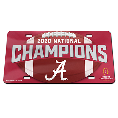 Alabama 2020 National Champions Champ Laser License Plate