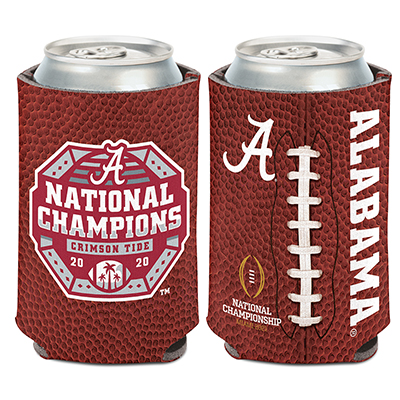 Alabama 2020 National Champions Football Can Cooler