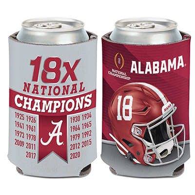 Alabama 2020 National Champions Multi-Time Can Cooler
