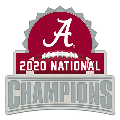 Alabama 2020 National Champions Collector Lapel Pin