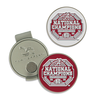 Alabama 2020 National Champions Golf Hat Clip And Ball Marker Set