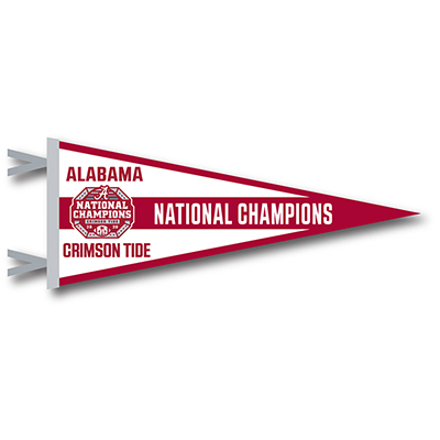 Alabama 2020 National Champions Pennant