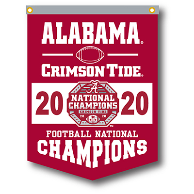 Alabama 2020 National Champions Flock Plus Rafter Banner