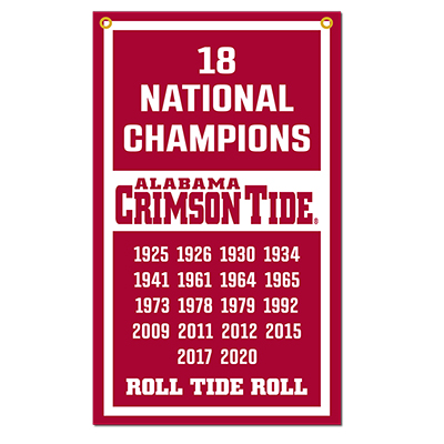 Alabama 18 National Champions Vertical Felt Banner
