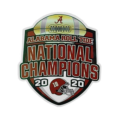 Alabama 2020  National Champions Vinyl Decal