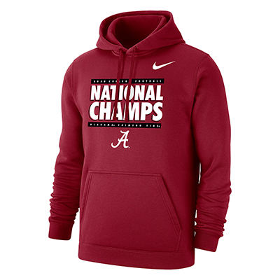 Alabama Crimson Tide 2020 Football National Champs Club Fleece Hoodie