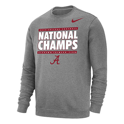 Alabama Crimson Tide 2020 Football National Champs Club Fleece Crew