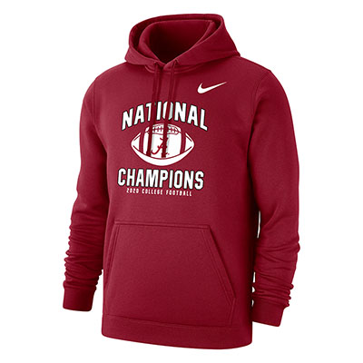 Alabama Script A 2020 College Football National Champions Club Fleece Hoodie