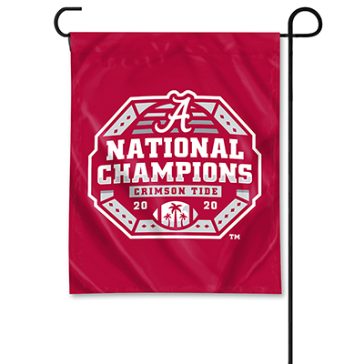 Alabama 2020 National Champions Football Garden Flag