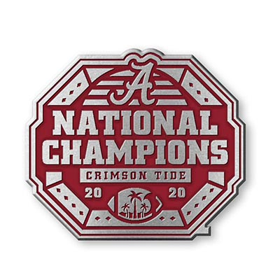 Alabama 2020 National Champions Pewter Car Emblem