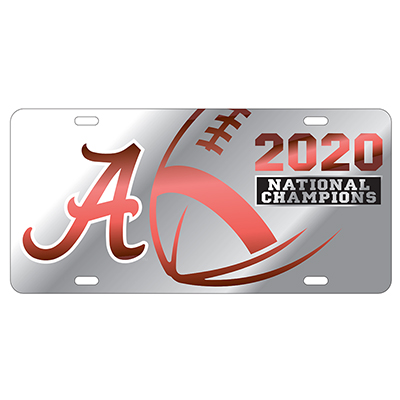 Alabama 2020 National Champions Acrylic Inlaid License Plate