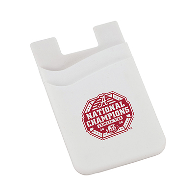 Alabama 2020 National Champions Dual Pocket Slim Silicone Phone Wallet
