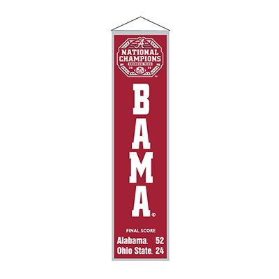 Alabama 2020 National Champions Commemorative Heritage Banner