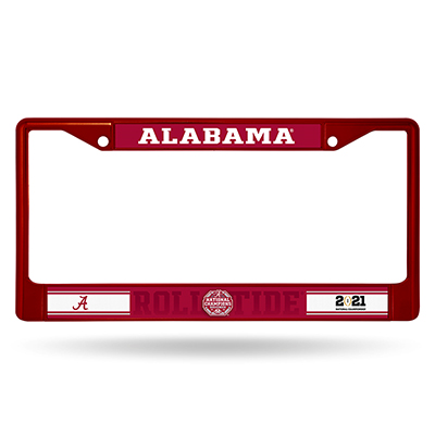 Alabama 2020 National Champions Color Chrome License Frame