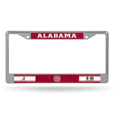 Alabama 2020 National Champions  Chrome License Frame